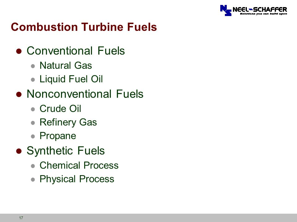 Combustion Turbine Fuels