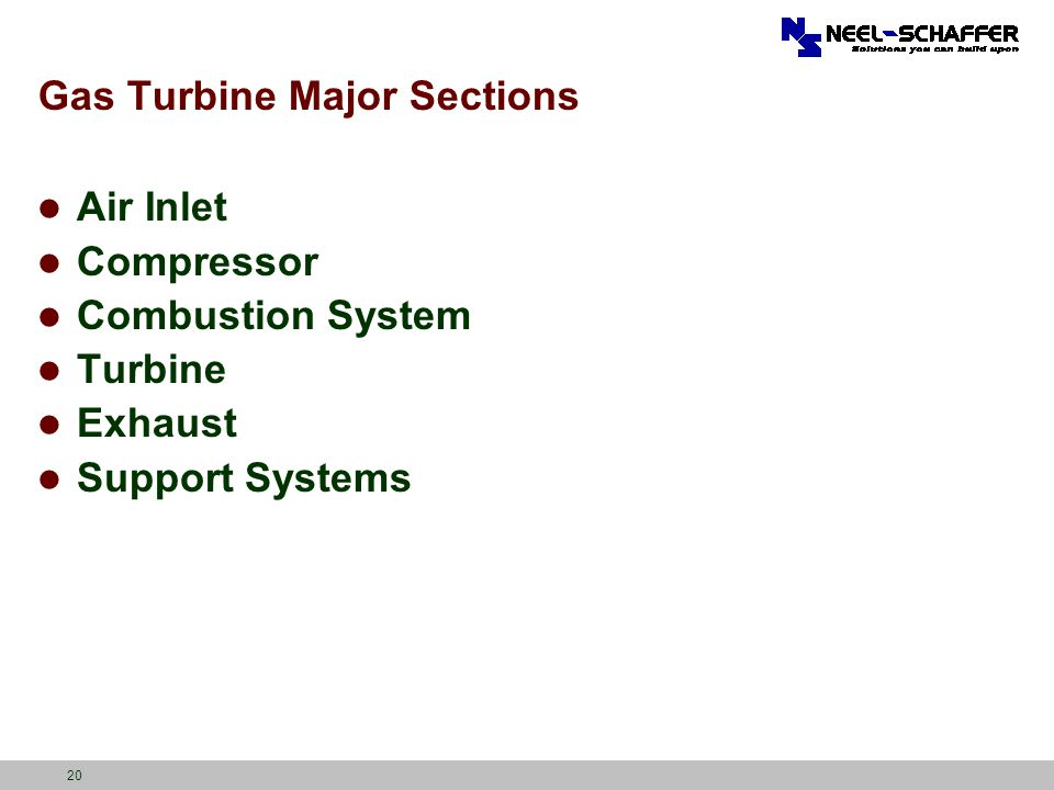 Gas Turbine Major Sections