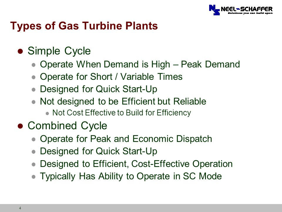 Types of Gas Turbine Plants
