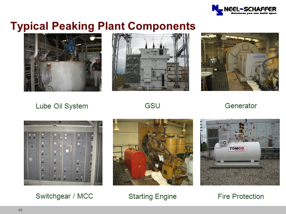 Typical Peaking Plant Components