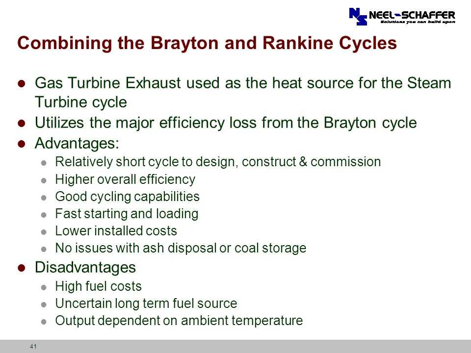 Combining the Brayton and Rankine Cycles