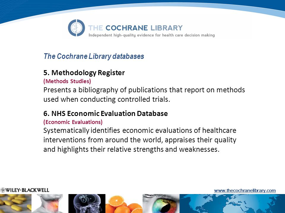 The Cochrane Library databases