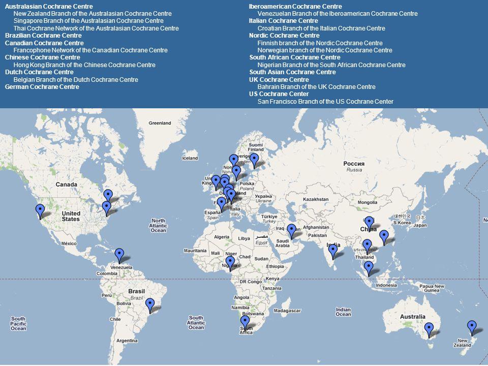Australasian Cochrane Centre Iberoamerican Cochrane Centre
