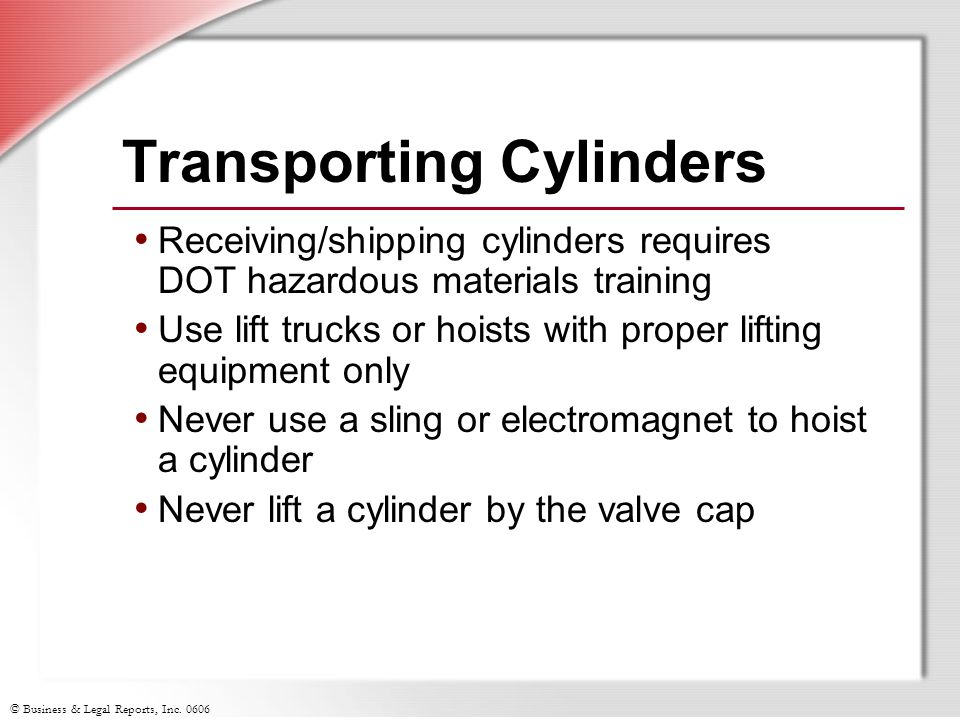 Transporting Cylinders