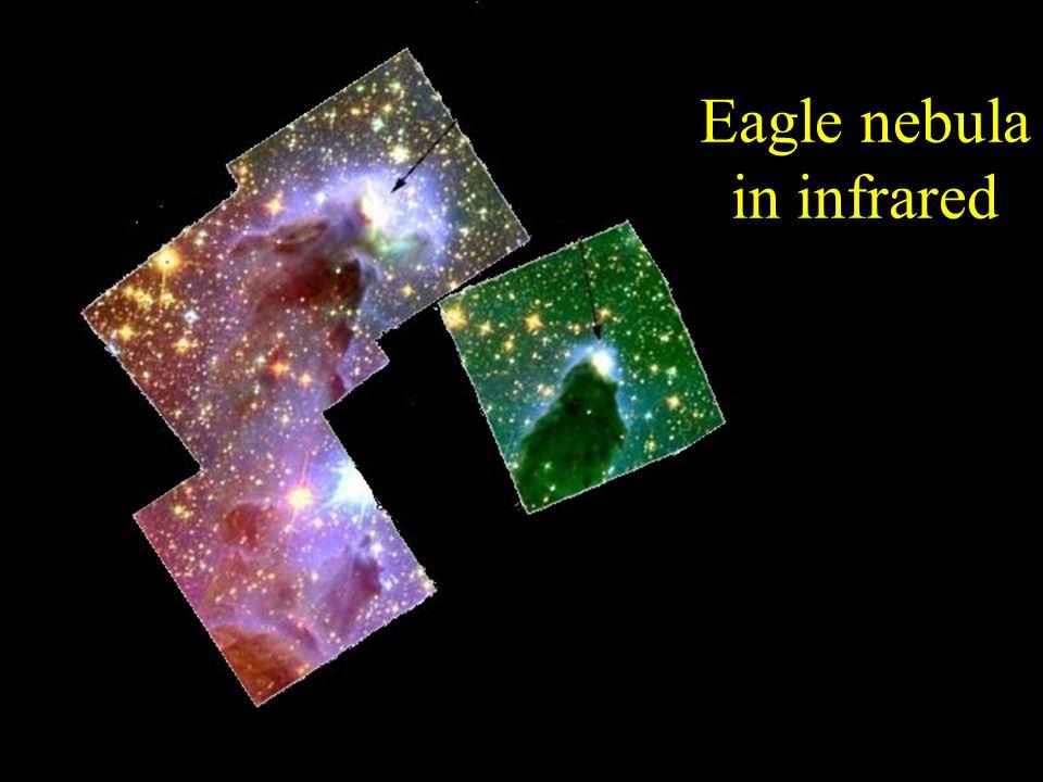 Eagle nebula in infrared
