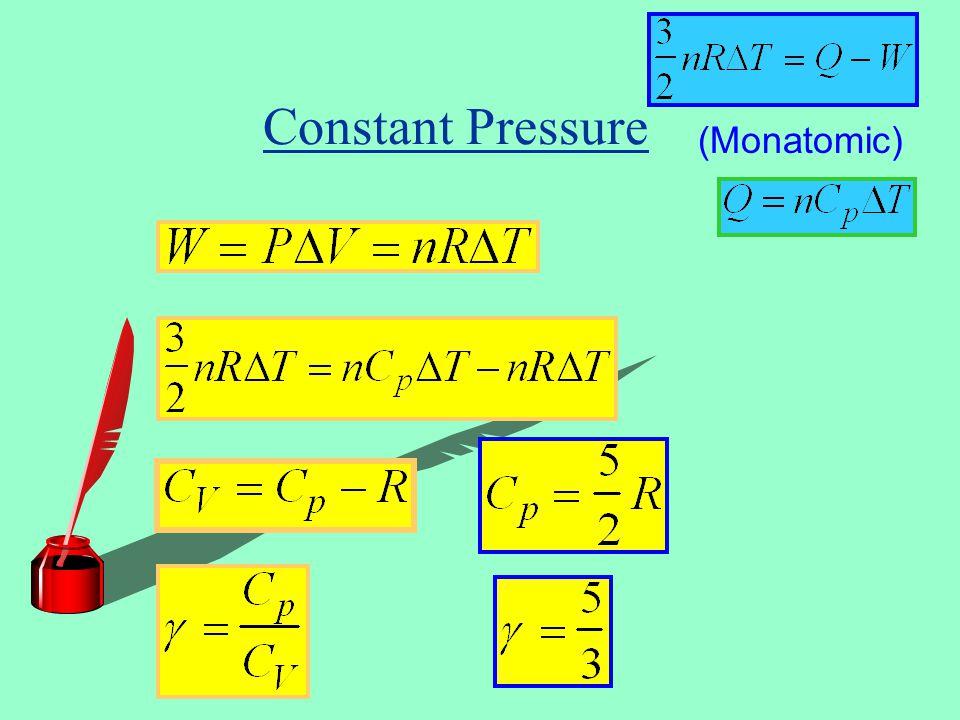 Constant Pressure (Monatomic)