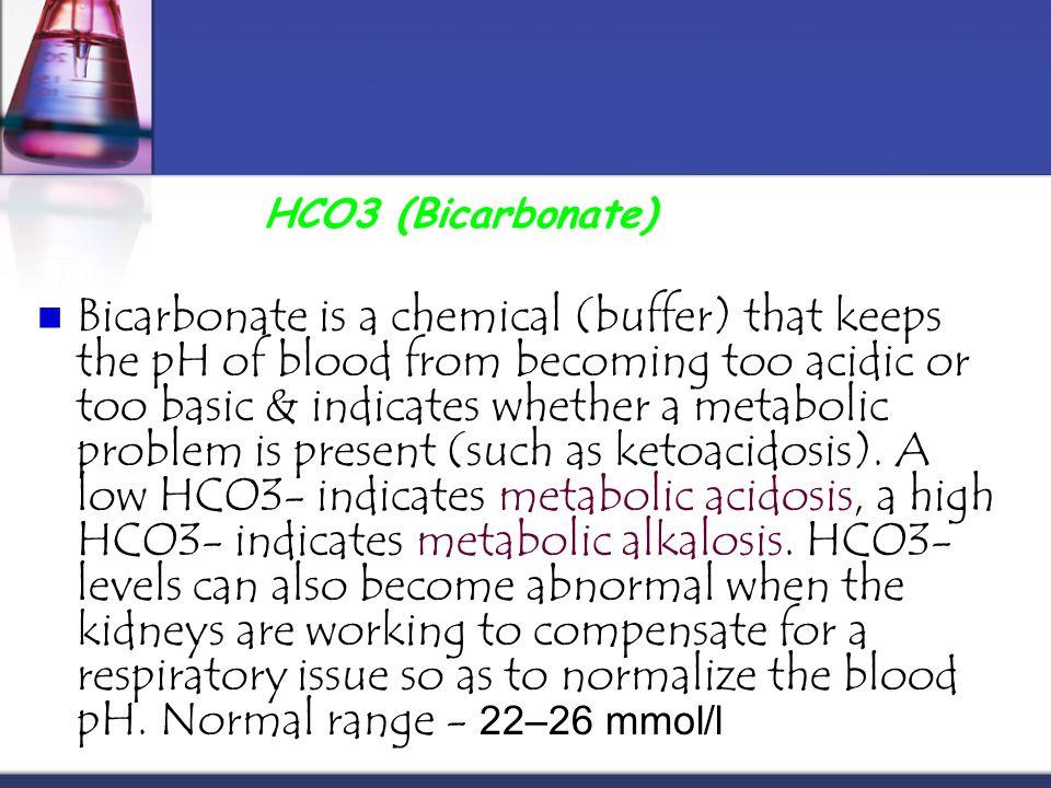 HCO3 (Bicarbonate)