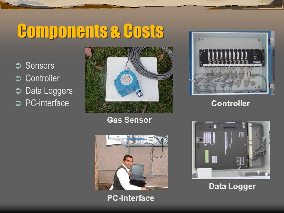 Components & Costs Sensors Controller Data Loggers PC-interface
