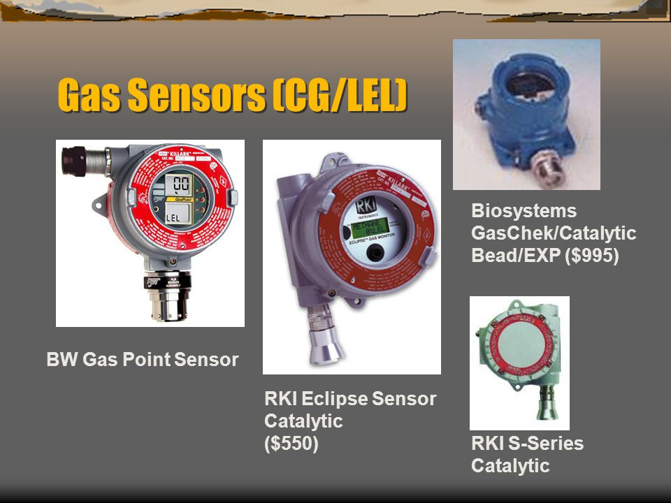 Gas Sensors (CG/LEL) Biosystems GasChek/Catalytic Bead/EXP ($995)