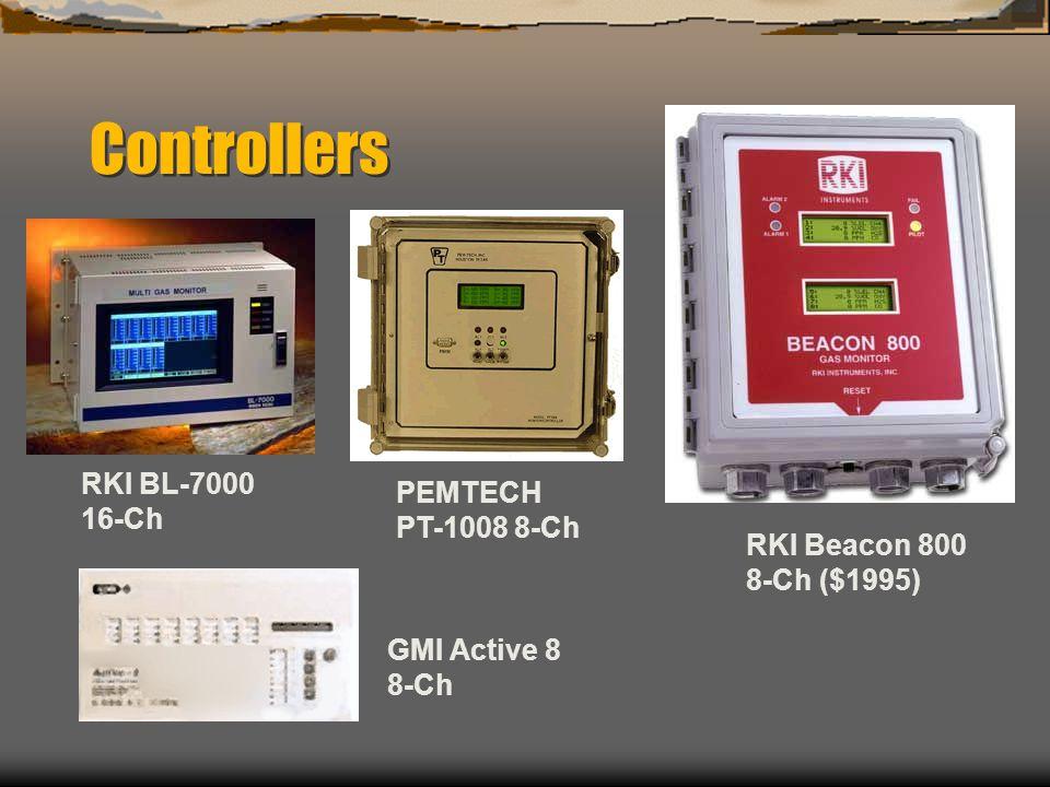 Controllers RKI BL-7000 PEMTECH 16-Ch PT-1008 8-Ch RKI Beacon 800
