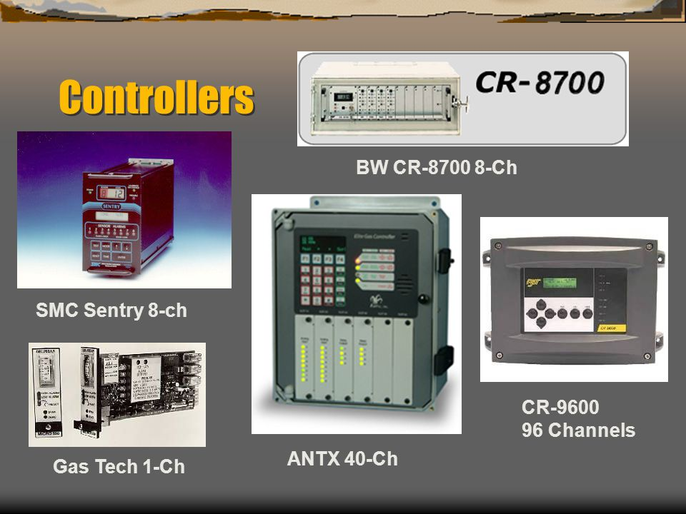 Controllers BW CR-8700 8-Ch SMC Sentry 8-ch CR-9600 96 Channels
