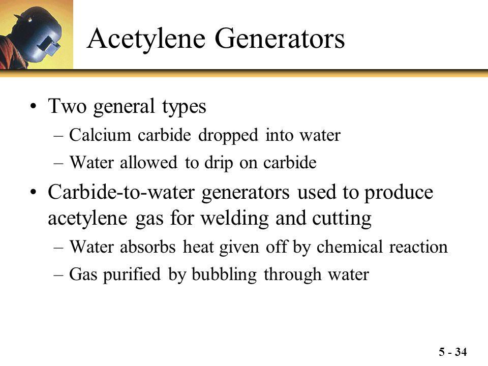 Acetylene Generators Two general types