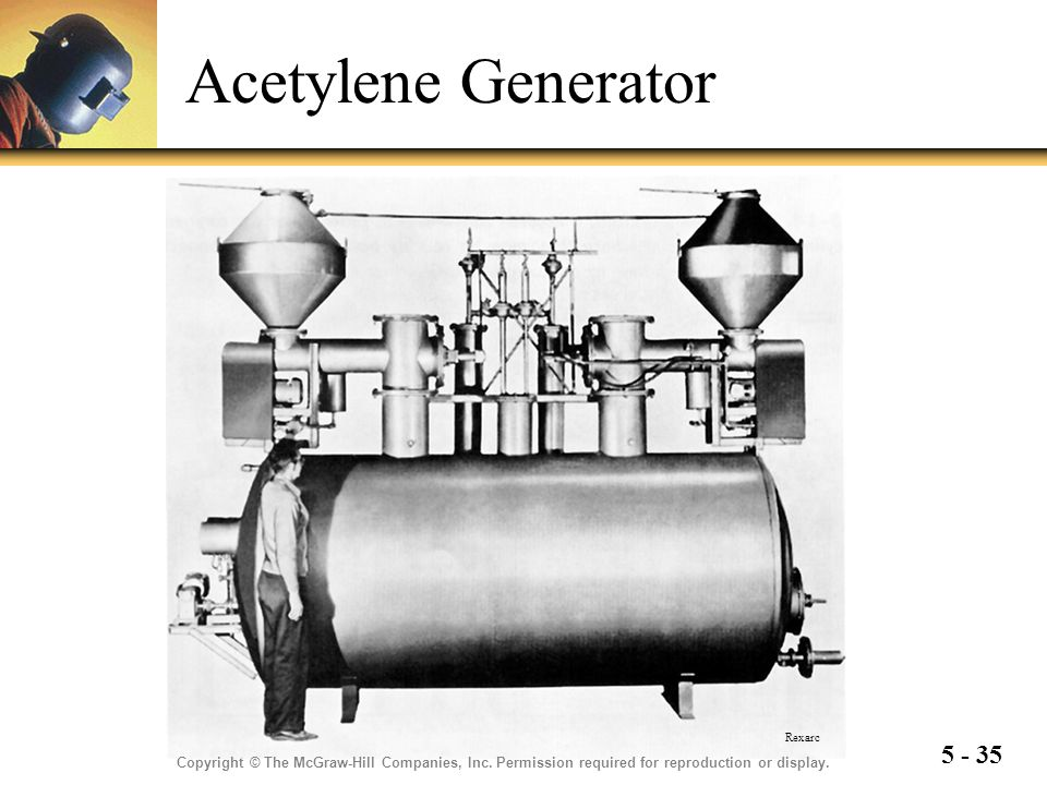 Acetylene Generator Rexarc. Copyright © The McGraw-Hill Companies, Inc.