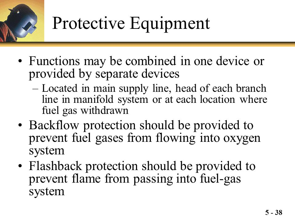 Protective Equipment Functions may be combined in one device or provided by separate devices.