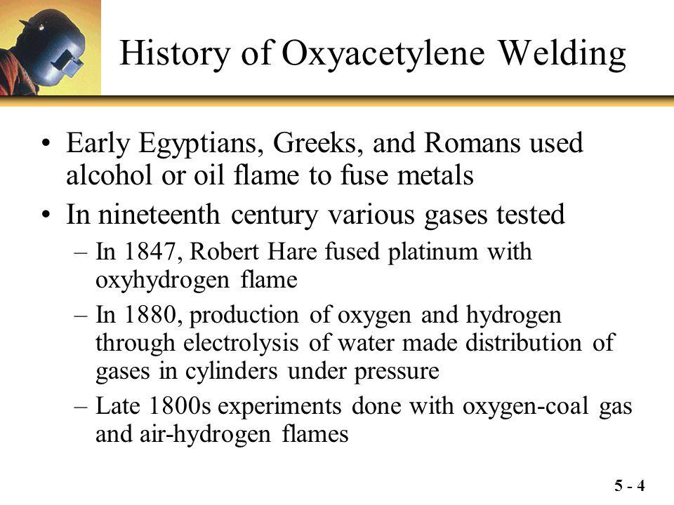 History of Oxyacetylene Welding