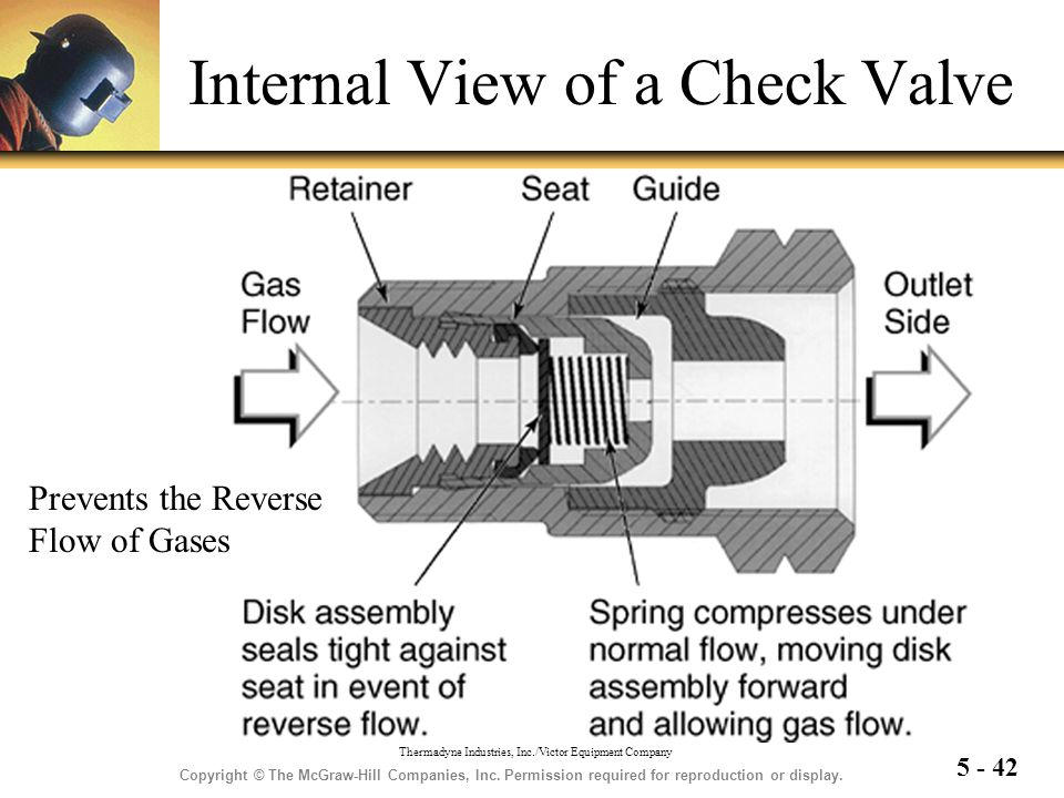 Internal View of a Check Valve