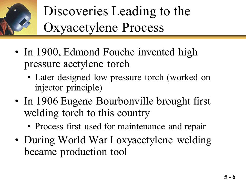 Discoveries Leading to the Oxyacetylene Process