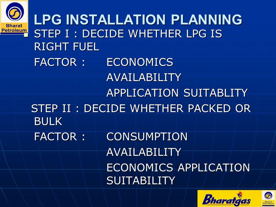 INDUSTRIAL LPG APPLICATIONS