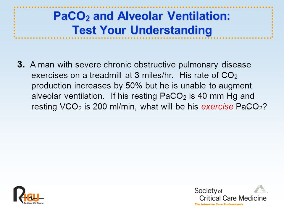 PaCO2 and Alveolar Ventilation: Test Your Understanding