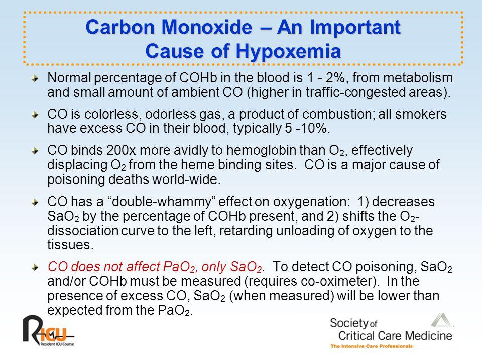 Carbon Monoxide – An Important Cause of Hypoxemia