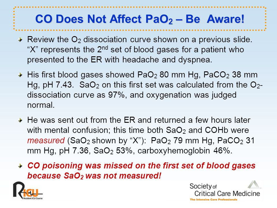 CO Does Not Affect PaO2 – Be Aware!