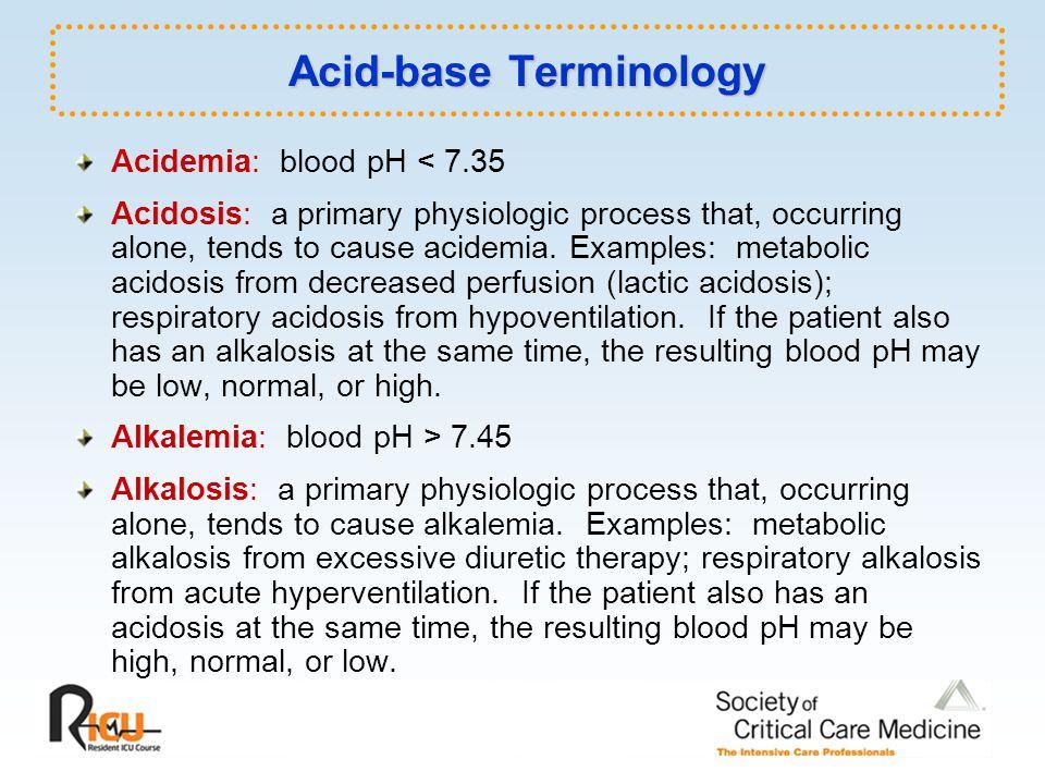 Acid-base Terminology