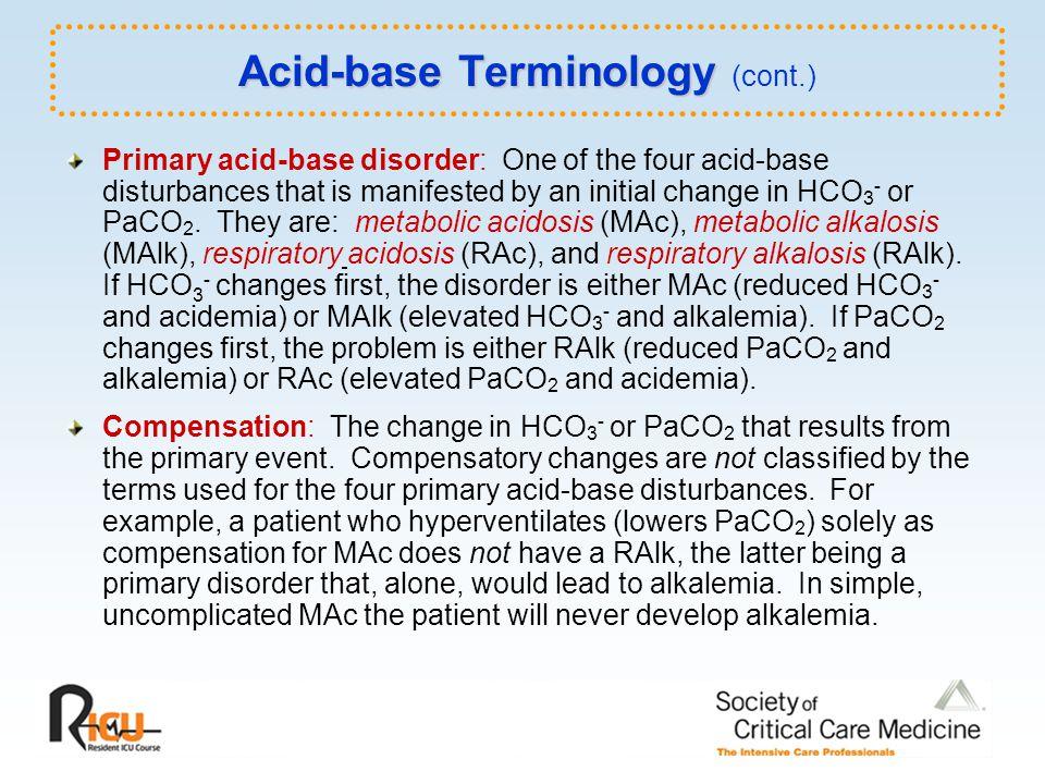 Acid-base Terminology (cont.)