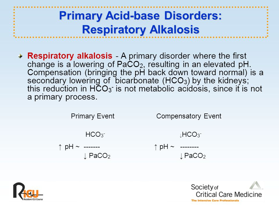 Primary Acid-base Disorders: Respiratory Alkalosis
