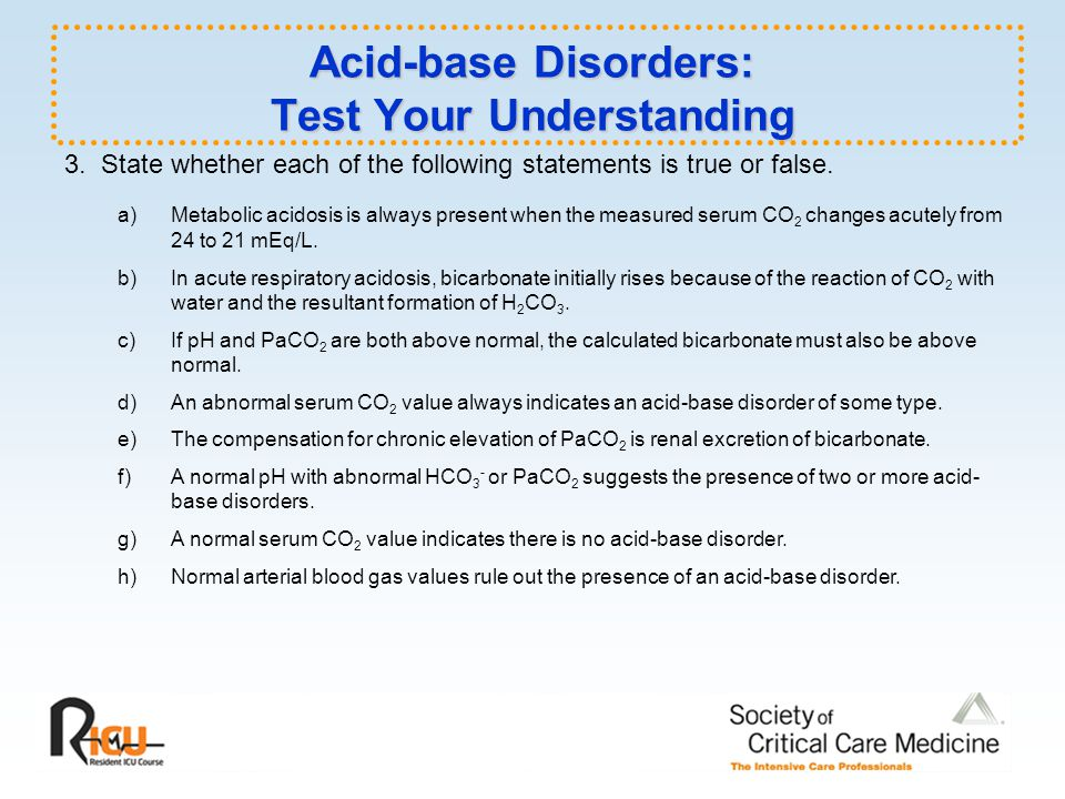 Acid-base Disorders: Test Your Understanding