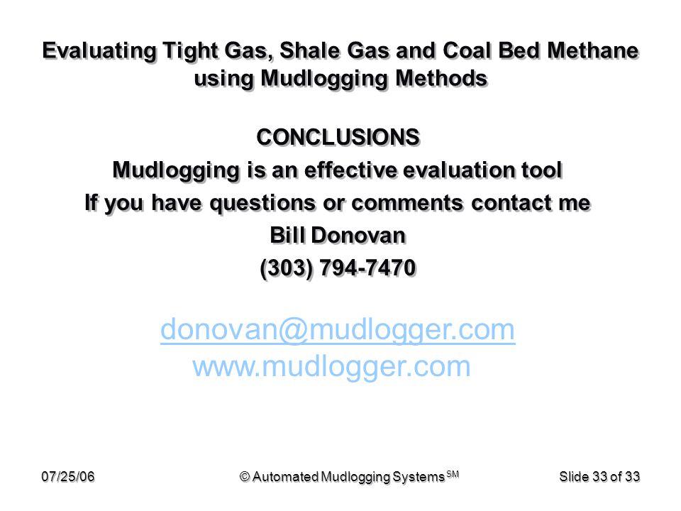 donovan@mudlogger.com www.mudlogger.com