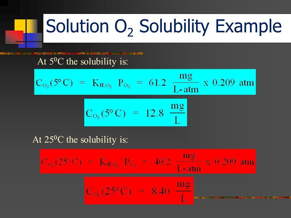 Solution O2 Solubility Example