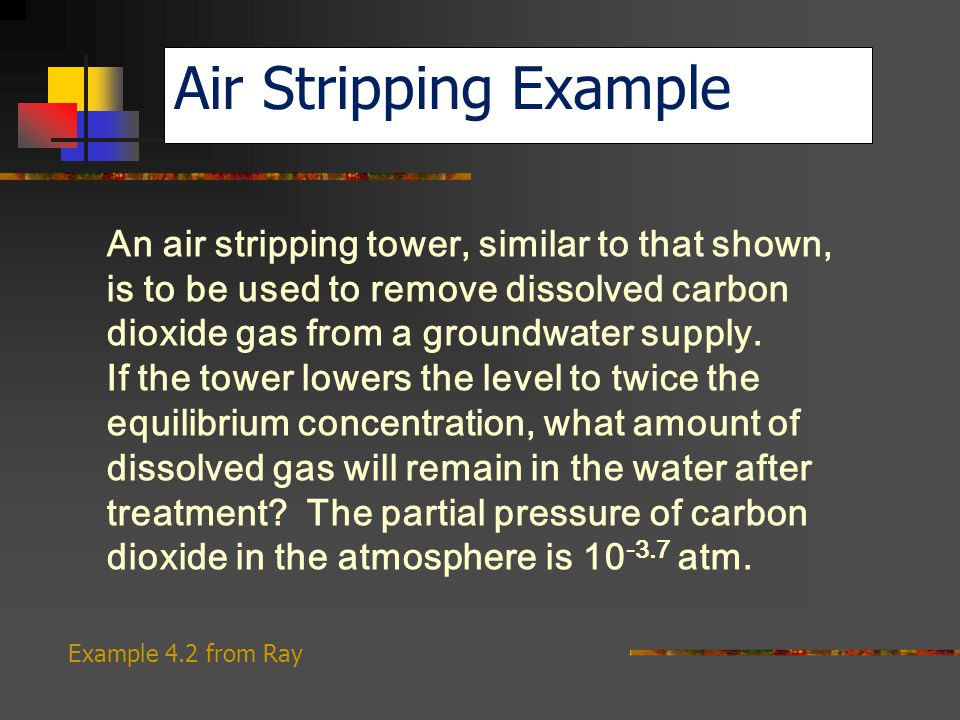 Air Stripping Example