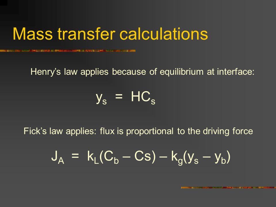Mass transfer calculations