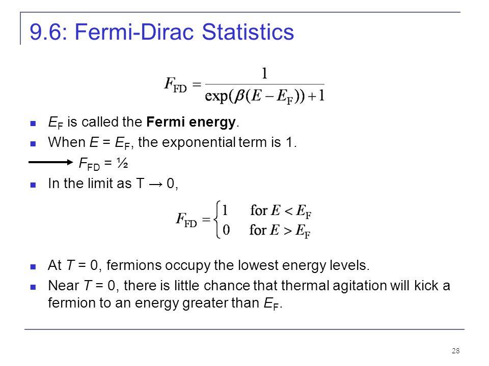 9.6: Fermi-Dirac Statistics