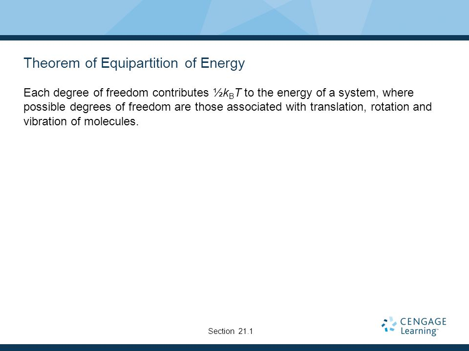 Theorem of Equipartition of Energy