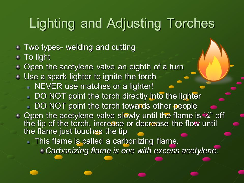 Lighting and Adjusting Torches