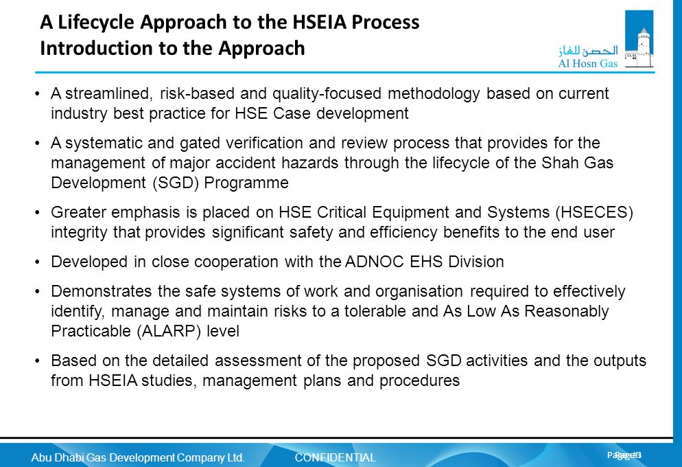 A Lifecycle Approach to the HSEIA Process Introduction to the Approach