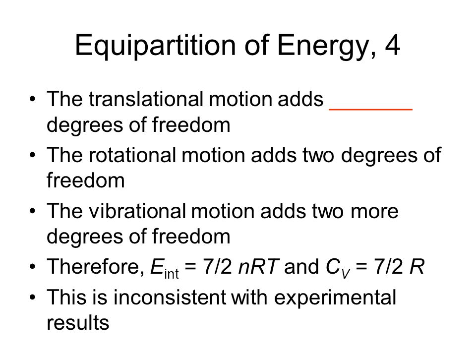Equipartition of Energy, 4