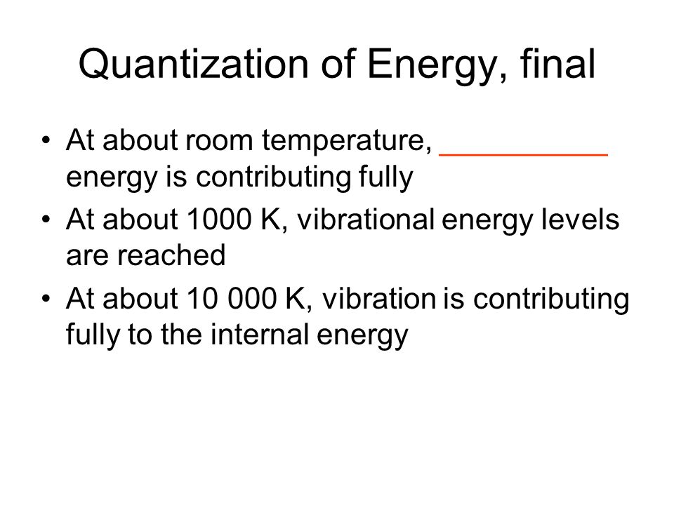 Quantization of Energy, final