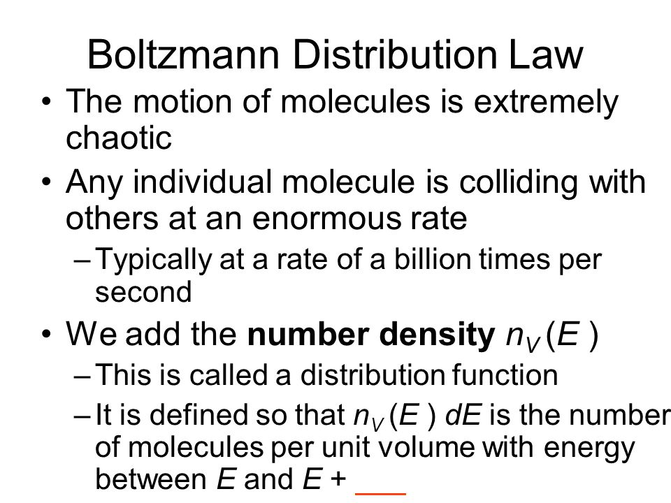 Boltzmann Distribution Law