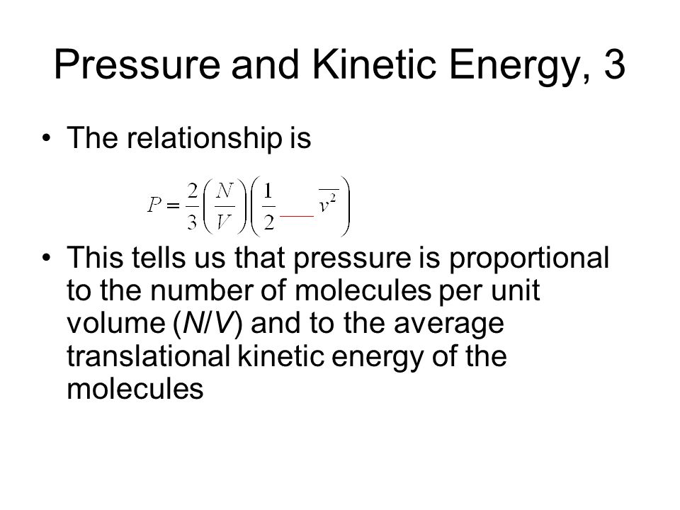 pressure and number of molecules relationship
