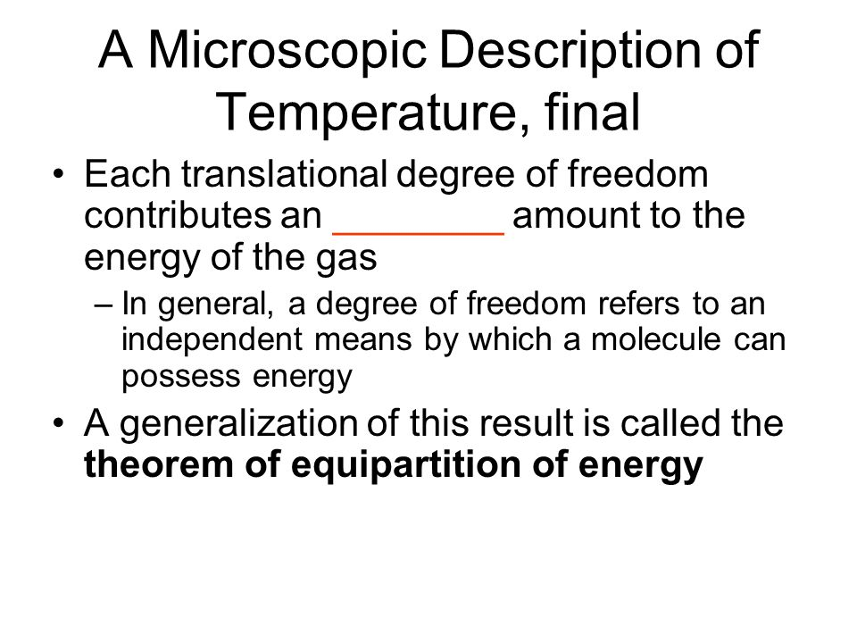 A Microscopic Description of Temperature, final