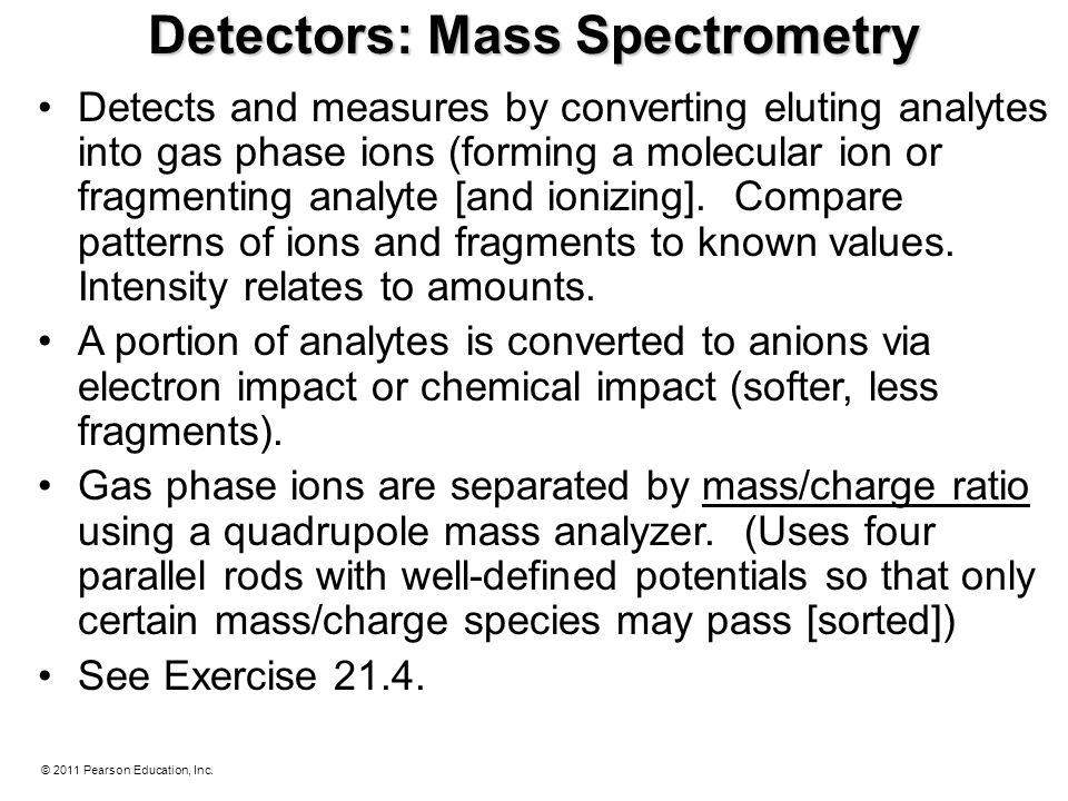 Detectors: Mass Spectrometry