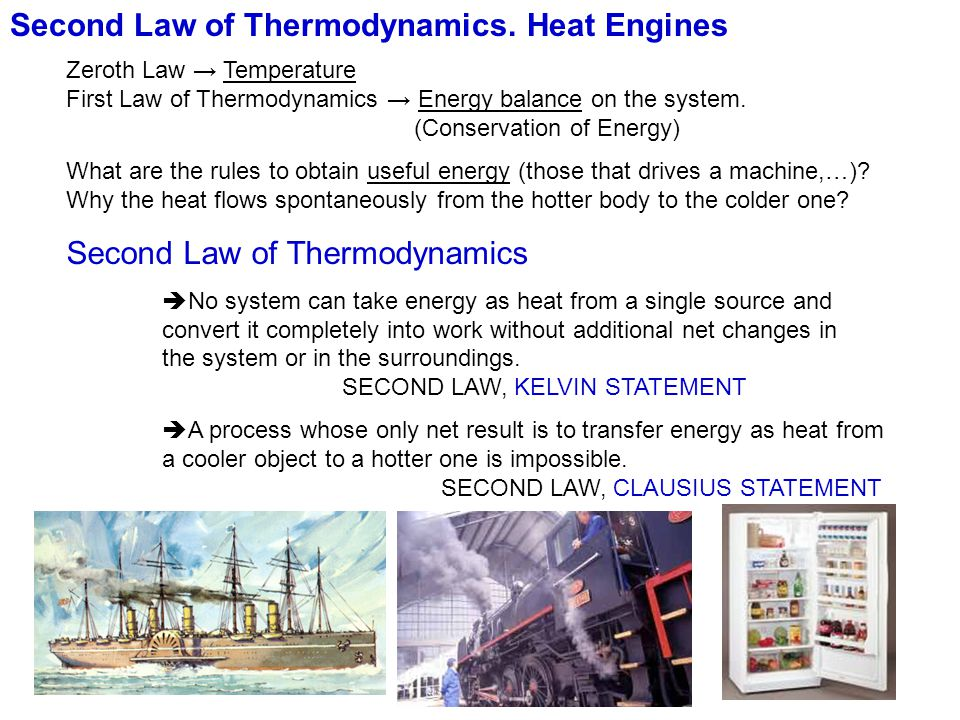 Second Law of Thermodynamics. Heat Engines