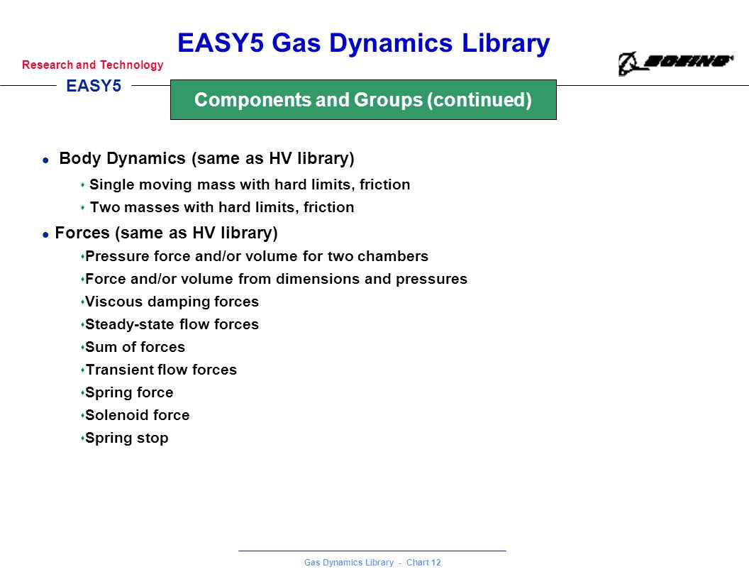 Components and Groups (continued)