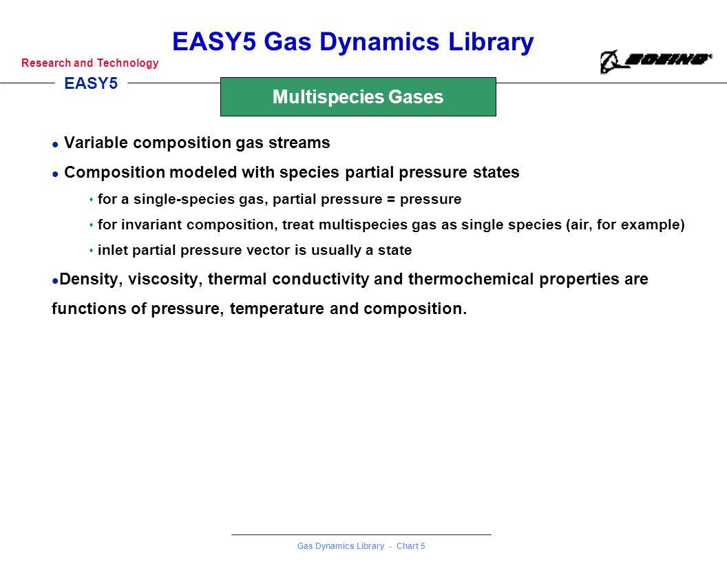 Multispecies Gases Variable composition gas streams