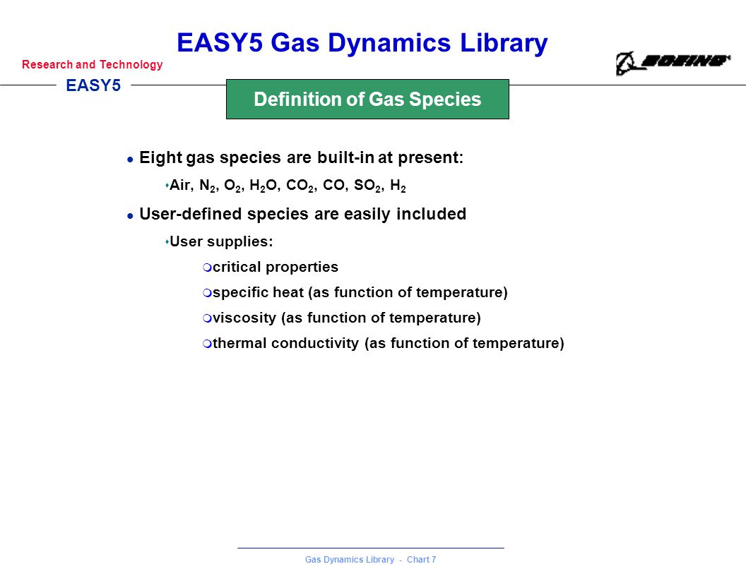 Definition of Gas Species