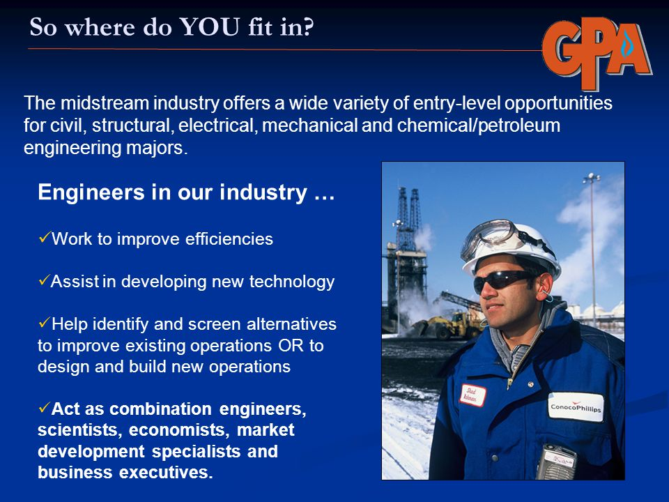 So where do YOU fit in Engineers in our industry …