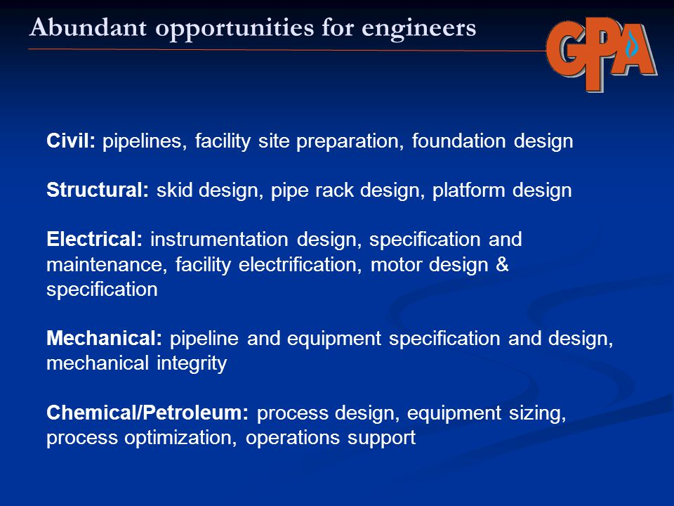Abundant opportunities for engineers