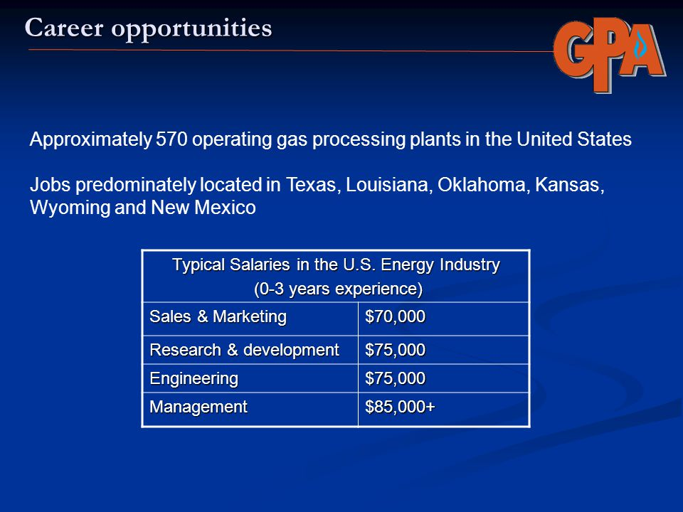Typical Salaries in the U.S. Energy Industry